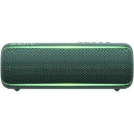 ソニー SONY ワイヤレスポータブルスピーカー SRS-XB22 [Bluetooth対応 /防水][スピーカー bluetooth 高音質 SRSXB22GC]