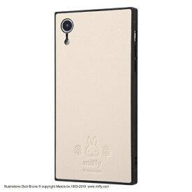 イングレム Ingrem iPhone XR 『ミッフィー』/耐衝撃オープンレザーケース KAKU IS-BP18KOL1/MF2 ベージュ
