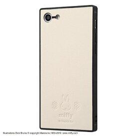 イングレム Ingrem iPhone SE(第2世代)4.7インチ/ iPhone 8/7 『ミッフィー』/耐衝撃オープンレザーケース KAKU IS-BP7SKOL1/MF2 ベージュ