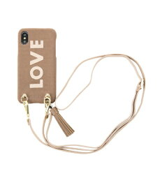IPHORIA アイフォリア Strap Love Dark Beige for iPhone X/XS ストラップラヴダークベージュ 16194