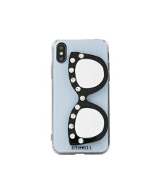 IPHORIA アイフォリア Silver Strip Love With Glasses for iPhone X/XS シルバーストライプラヴウィズグラッシーズ 16235