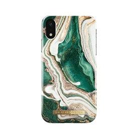 IDEAL OF SWEDEN iPhone XR用ケース ゴールデンジェイドマーブル IDFCAW18-I1861-98