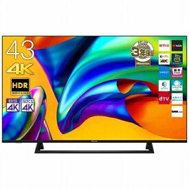 ハイセンス Hisense 43E6800 液晶テレビ ブラック [43V型 /4K対応 /BS・CS 4Kチューナー内蔵 /YouTube対応][テレビ 43型 43インチ]