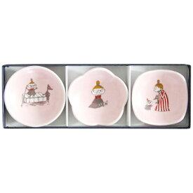 ワールドクリエイト WORLD CREATE ムーミン 豆皿3枚セット リトルミイ ピンク[14742]