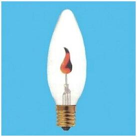 旭光電機 ASAHI LAMP C32-E17-100V-1-2W 電球 フリッカーランプ クリヤー [E17 /シャンデリア電球形][C32E17フリッカー]