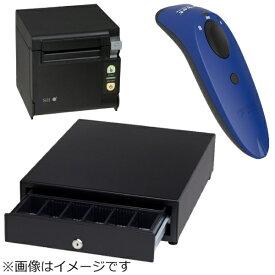 セイコーインスツル Seiko Instruments AirレジBセット(黒) レシートプリンター RP-D10-K27J2-B/キャッシュドロア DRW-A01-K/バーコードリーダー CX3360-1682[エアレジBセットブルー]