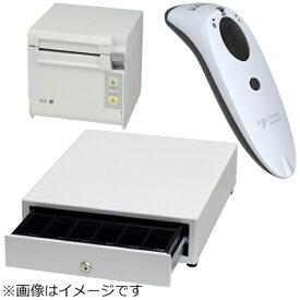 セイコーインスツル Seiko Instruments AirレジBセット(白) レシートプリンター RP-D10-W27J2-B/キャッシュドロア DRW-A01-W/バーコードリーダー CX3397-1855[エアレジ プリンタ]