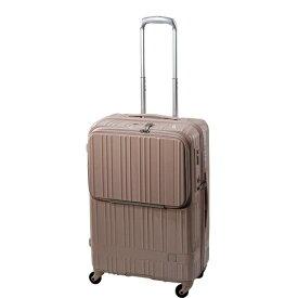 東急ハンズ TOKYU HANDS スーツケース フロントオープンタイプ 58L hands+(ハンズプラス)newライト ピンク 18H+TT005-PK [TSAロック搭載]
