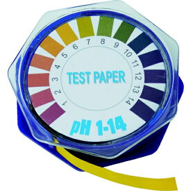 トラスコ中山 TRUSCO pH試験紙 ロールタイプ 7mm×5M Ph1〜14 TPHR-1