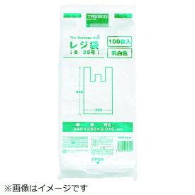 トラスコ中山 TRUSCO レジ袋 12/30号 (380X290mm)乳白 100枚入 TRB12-30-W