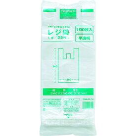 トラスコ中山 TRUSCO レジ袋 8/25号 (340X250mm)半透明 100枚入 TRB8-25-TM