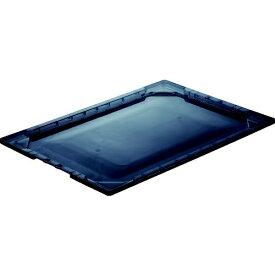 トラスコ中山 TRUSCO 薄型折りたたみコンテナスケル TSK−O50用フタ 透明ブラック TSK-O50F-BK