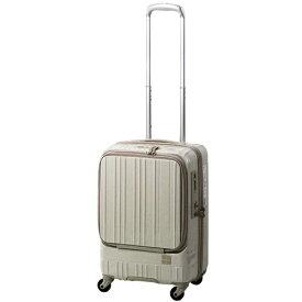 東急ハンズ TOKYU HANDS スーツケース フロントオープンタイプ 35L hands+(ハンズプラス)newライト スパークリングシルバー 18H+TT004-SSL [TSAロック搭載]