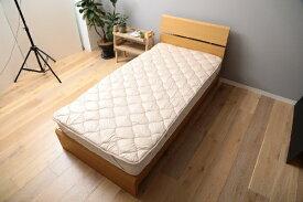 メルクロス MERCROS 【ベッドパッド】洗える吸水速乾・抗菌防臭ベッドパッド(シングルサイズ/100×200cm/ベージュ)