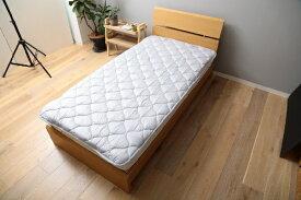 メルクロス MERCROS 【ベッドパッド】洗える吸水速乾・抗菌防臭ベッドパッド(シングルサイズ/100×200cm/グレー)