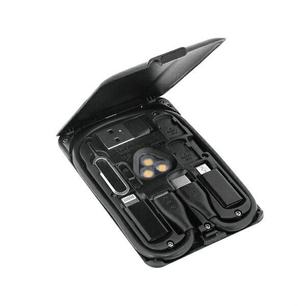 アーキサイト ARCHISITE CARD KableCARD カードサイズ マルチツール 充電ケーブル ワイヤレス充電 SIM収納 スマホスタンド TYPE-C USB-C ブラック KC7-JB