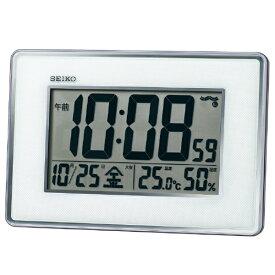 セイコー SEIKO 掛け置き兼用時計 銀色メタリック SQ443S [電波自動受信機能有]
