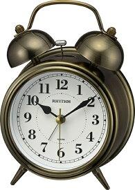 リズム時計 RHYTHM 目覚まし時計 コールマンB06 金色イブシ仕上げ(白) 8RAA06SR63 [アナログ]