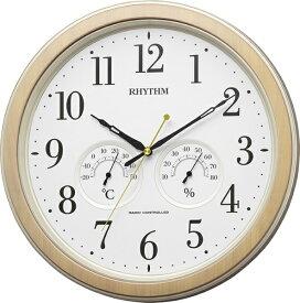 リズム時計 RHYTHM 掛け時計 【フィットウェーブインフォートM553】 8MY553SR23 [電波自動受信機能有]