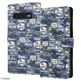イングレム Ingrem Galaxy S10+ 『ディズニーキャラクター』/手帳型アートケース マグネット / ドナルド IN-DGS10PMLC2/DD001 ドナルド_001
