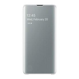 SAMSUNG サムスン 【純正】 Galaxy S10用 Clear View Cover ホワイト EF-ZG973CWEGJP