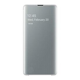 SAMSUNG サムスン 【サムスン純正】Galaxy S10+用 Clear View Cover ホワイト EF-ZG975CWEGJP
