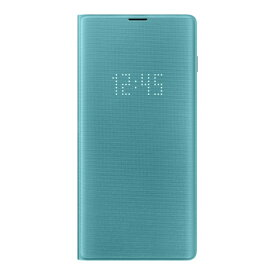SAMSUNG サムスン 【サムスン純正】Galaxy S10+用 LED View Cover グリーン EF-NG975PGEGJP