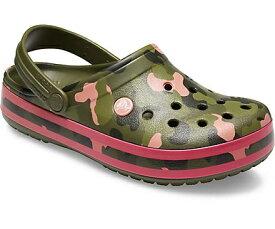 クロックス Crocs 24.0cm 男女兼用 フットウェア Crocband Seasonal Graphic Clog(M6/W8/Army Green/Melon)#205579