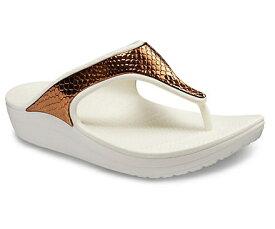 クロックス Crocs 24.0cm レディース フットウェア Women`s Crocs Sloane Metallic Texture Flip(W8/Bronze/Oyster)#205604