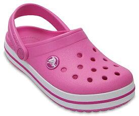 クロックス Crocs 19.5cm 子供用 サンダル ボーイズ フットウェア Kids`Crocband Clog(J1/Party Pink)#204537