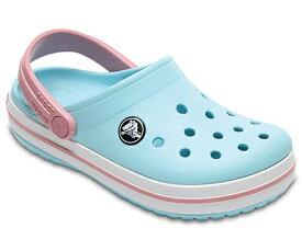 クロックス Crocs 17.5cm 子供用 サンダル ボーイズ フットウェア Kids`Crocband Clog(C10/Ice Blue/White)#204537