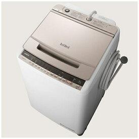 日立 HITACHI BW-V100E-N 全自動洗濯機 ビートウォッシュ シャンパン [洗濯10.0kg /乾燥機能無 /上開き][ビートウォッシュ 洗濯機 10kg BWV100E]