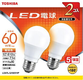 東芝 TOSHIBA LDA7L-G/K60V1P LED電球 [E26 /電球色]