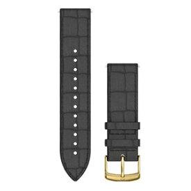 GARMIN ガーミン Quick Release バンド 20mm Black Embossed Italian Gold Leather 010-12691-1C