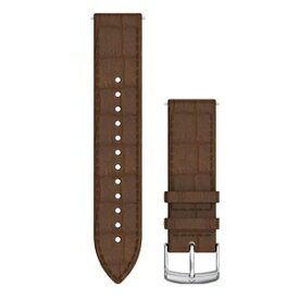 GARMIN ガーミン Quick Release バンド 20mm Dark Brown Embossed Italian Silver Leather 010-12691-1D