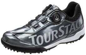 ブリヂストン BRIDGESTONE 25.0cm メンズ スパイクレス ゴルフシューズ TOURSTAGE SHTS8T(ガンメタ) 【軽量タイプ】