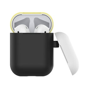 BELEX Naked2 Silicone Case Suit for AirPods black yellow Devia