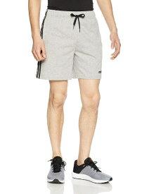 アディダス adidas トレーニングウェア CORE 3ストライプス シングルジャージーショーツ メンズ Mサイズ (ミディアムグレイヘザー/ブラック) FSN56