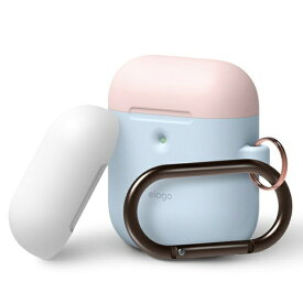 ELAGO エラゴ elago AIRPODS DUO HANG CASE for AirPods 2nd Generation Wireless Charging Case for AirPods 2nd Wireless (Pastel Blue) EL_A2WCSSCOW_PB