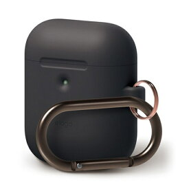 ELAGO エラゴ elago AIRPODS HANG CASE for AirPods 2nd Generation Wireless Charging Case for AirPods 2nd Wireless (Black) EL_A2WCSSCHW_BK
