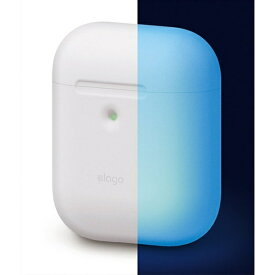 ELAGO エラゴ elago AIRPODS CASE for AirPods 2nd Generation Wireless Charging Case for AirPods 2nd Wireless (Night Glow Blue) EL_A2WCSSCAW_NB
