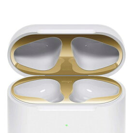 ELAGO エラゴ elago AirPods DUST GUARD for AirPods 2nd Generation Wireless Charging Case for AirPods 2nd Wireless (Gold) EL_A2WDGBSTW_GD