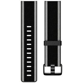 Fitbit フィットビット Fitbit Versa/VersaLite 専用 ウーブンハイブリッドバンド Black/Gray ブラック/グレー Sサイズ FB166WBBKGYS ブラック/グレー[FB166WBBKGYS]