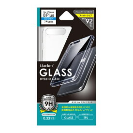 PGA iPhone 8 Plus/7 Plus用 ガラスハイブリットケース PG-17LGT01