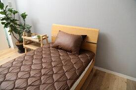 メルクロス MERCROS 【ベッドパッド】洗える吸水速乾・抗菌防臭ベッドパッド(ダブルサイズ/140×200cm/ブラウン)