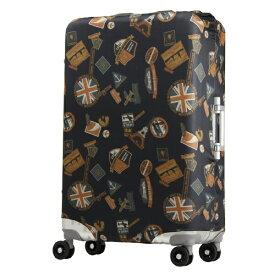 レジェンドウォーカー LEGEND WALKER スーツケースカバー 9101-L-PARIS ブラックステッカー