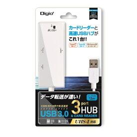 ナカバヤシ Nakabayashi USB3.0コンボハブ 3ポート SDカードリーダー COM-3SD013W ホワイト[COM3SD013W]