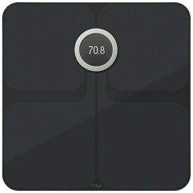 Fitbit フィットビット FB202BK-JP 体重計 スマート体重計 Aria2 WiFi/Bluetooth対応 ブラック [デジタル][体重計 体脂肪計 スマホ連動 FB202BKJP]