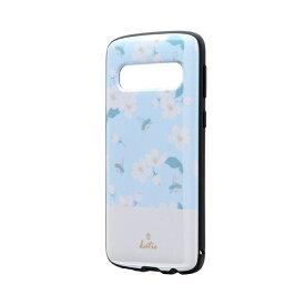 MSソリューションズ Galaxy S10 耐衝撃ハイブリッド PALLET AIR Katieフラワーサックス LP-19SG1HVDA フラワーサックス