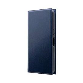 MSソリューションズ Xperia Ace 薄型手帳型ケース 「PRIME」 ネイビー LP-19SX2LPNV ネイビー